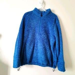 Woolrich XL blue fuzzy sweater
